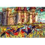 Puzzle  Grafika-Kids-00861 Pièces XXL - François Ruyer : Siège du Château Fort