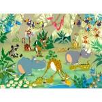 Puzzle  Grafika-Kids-00868 François Ruyer : Jungle