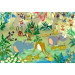 Puzzle  Grafika-Kids-00878 Pièces XXL - François Ruyer : Jungle