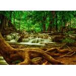 Puzzle  Grafika-Kids-00928 Pièces magnétiques - Cascade dans la Forêt