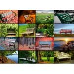 Puzzle  Grafika-Kids-00944 Collage - Bancs