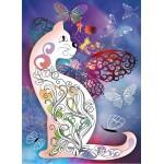 Puzzle  Grafika-Kids-00990 Le Chat et les Papillons