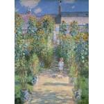 Puzzle  Grafika-Kids-01018 Pièces magnétiques - Claude Monet - Le Jardin de l'Artiste à Vétheuil, 1880