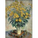 Puzzle  Grafika-Kids-01026 Pièces magnétiques - Claude Monet - Jérusalem Fleurs d'artichaut, 1880
