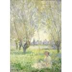 Puzzle  Grafika-Kids-01030 Pièces magnétiques - Claude Monet - Femme assise sous les Saules, 1880