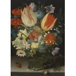 Puzzle  Grafika-Kids-01079 Pièces magnétiques - Peter Binoit: Nature Morte avec des Tulipes, 1623