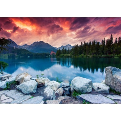 puzzle parc national des hautes tatras slovaquie pologne grafika kids 01194 24 pi ces puzzles. Black Bedroom Furniture Sets. Home Design Ideas