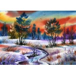 Puzzle  Grafika-Kids-01210 Pièces magnétiques - Winter Water