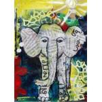 Puzzle  Grafika-Kids-01271 Pièces magnétiques - Eléphanteau Thaïlandais