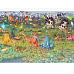 Puzzle  Grafika-Kids-01468 François Ruyer - Dinosaures