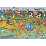 Puzzle  Grafika-Kids-01471 Pièces XXL - François Ruyer - Dinosaures