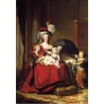 Puzzle  Grafika-Kids-01480 Louise-Élisabeth Vigee le Brun : Marie Antoinette et ses enfants, 1787