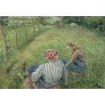 Puzzle   Camille Pissarro : Jeunes Paysannes se Reposant dans les Champs Près de Pontoise, 1882