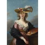 Puzzle   Elisabeth Vigée-Lebrun : Autoportrait au Chapeau de Paille, 1782
