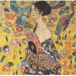 Puzzle  Grafika-00031 Gustav Klimt : Dame à l'éventail, 1917-1918