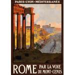 Puzzle  Grafika-00090 Affiche des Chemins de Fer - Rome par la voie du Mont-Cenis, 1920
