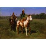 Puzzle  Grafika-00099 Rosa Bonheur : Indiens à cheval armés de lances, 1890
