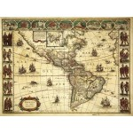Puzzle  Grafika-00168 Willem Janszoon Blaeu : Carte de l'Amérique en 1645