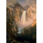 Puzzle  Grafika-00230 Albert Bierstadt : Les Chutes de la Rivière Yellowstone, 1881