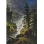 Puzzle  Grafika-00231 Albert Bierstadt : Chute d'Eau dans les Rocheuses, 1898