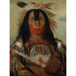 Puzzle  Grafika-00236 George Catlin : Stu-mick-o-súcks, Buffalo Bull's Back Fat, Head Chief, Blood Tribe, 1832