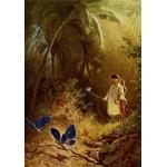 Puzzle  Grafika-00352 Carl Spitzweg : Le Chasseur de Papillons, 1840