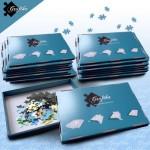 Puzzle  Grafika-00506 Lot de 20 Boites de Tri Bleues - 24 x 22 x 2.5 cm