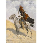Puzzle  Grafika-00550 Frederic Remington : The Blanket Signal, 1894 - 1898