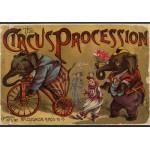 Puzzle  Grafika-00557 McLoughlin Bros : The Circus Procession , 1888