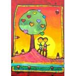 Puzzle  Grafika-00669 Anne Poirée & Patrick Guallino - Arbre à se refléter ensemble