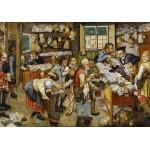 Puzzle  Grafika-00680 Brueghel Pieter le Jeune : Le Paiement de la Dîme, 1617-1622