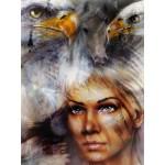 Puzzle  Grafika-00786 La Femme, l'Aigle et le Cheval
