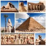 Puzzle  Grafika-00804 Collage Egypte, Sphinx et Pyramide
