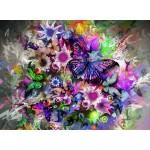 Puzzle  Grafika-01136 Fleurs et Papillons