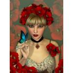 Puzzle  Grafika-01153 La Femme et le Papillon