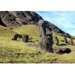 Puzzle  Grafika-01267 Île de Pâques, Moai at Quarry