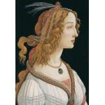 Puzzle  Grafika-01283 Sandro Botticelli: Portrait de Jeune Femme, 1494