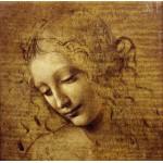 Puzzle  Grafika-01296 Léonard de Vinci : Visage de Giovane Fanciulla, 1508
