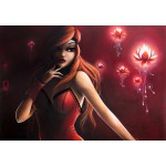 Puzzle  Grafika-01330 Misstigri : Red Light Flower