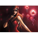Puzzle  Grafika-01333 Misstigri : Red Light Flower