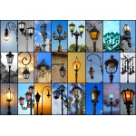Puzzle  Grafika-01368 Collage - Lampadaires
