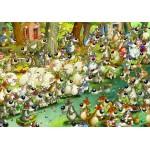 Puzzle  Grafika-01463 François Ruyer: Loups !