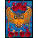 Puzzle  Grafika-01506 Owl & Roses