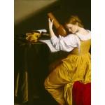 Puzzle  Grafika-01780 Orazio Gentileschi: La Joueuse de Luth, 1612/1620