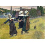 Puzzle  Grafika-01830 Gauguin Paul : Danse Bretonne des Filles à Pont Aven, 1888