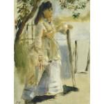 Puzzle  Grafika-01859 Auguste Renoir : Femme à la Barrière, 1866