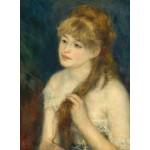 Puzzle  Grafika-01894 Auguste Renoir : Jeune Femme Tressant ses Cheveux, 1876