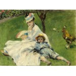 Puzzle  Grafika-01900 Auguste Renoir : Madame Monet et son Fils, 1874