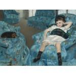Puzzle  Grafika-01921 Mary Cassatt : Petite Fille dans un Fauteuil Bleu, 1878