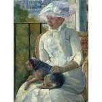 Puzzle  Grafika-01925 Mary Cassatt : Jeune Fille à la Fenêtre, 1883-1884